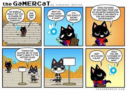 Gamercat Crossing Animal Funny Comic Comics Thegamercat