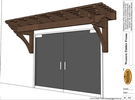cantilevered timber awning western timber frame
