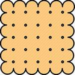 Cracker Clipart Crackers Graham Cookie Icon Snack