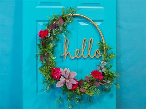 hula hoop word wreath hgtv