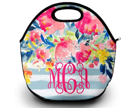 monogrammed lunchbox monogrammed lunch bags insulated