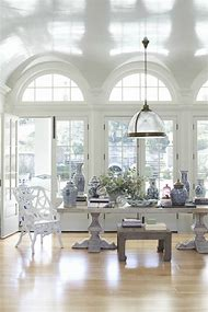 House Beautiful Dining Room Blue and White