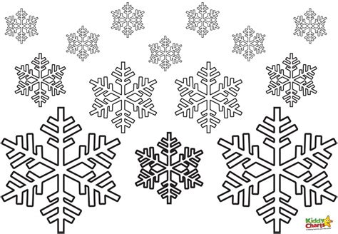 christmas snowflakes coloring pages getcoloringpagescom