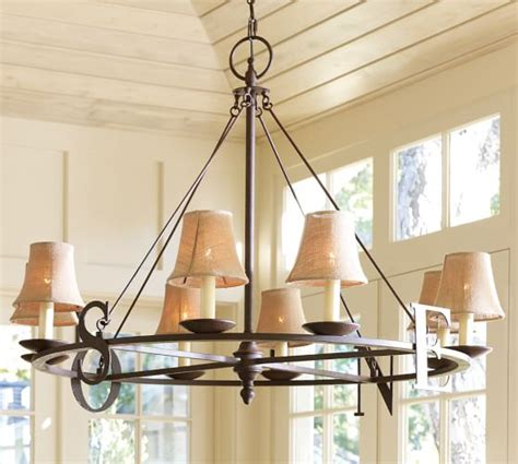 burlap chandelier shade set of 3 pottery barn