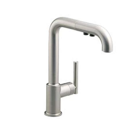 kohler purist single handle pull out sprayer kitchen