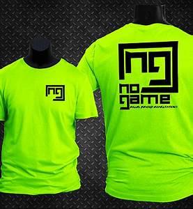 Neon Green w Black Print Sport Shirt No Game Apparel