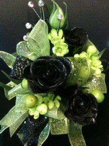 Wrist corsage Limes and Green on Pinterest