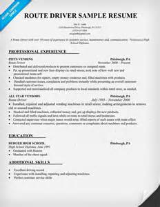 resume driving license exle route driver resume sle resumecompanion resume sles across all industries