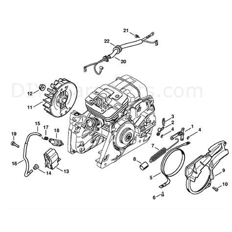 Stihl Ms 341 Chainsaw Ms341 Z Parts Diagram Chain Brake