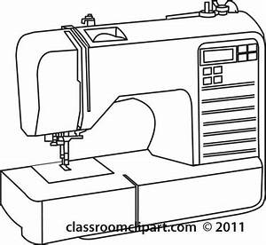 Sewing Machine Outlines Clipart