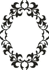 vintage silhouette cameo frame clipart monogram clipground