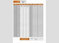 Arbeitszeitnachweis Excel Vorlage