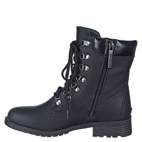 Women's Combat Boot Cindy Black