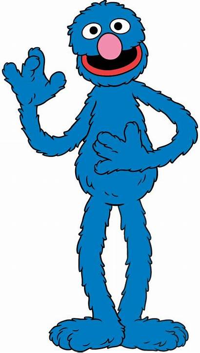 Sesame Grover Street Muppets Clipart Clip Birthday