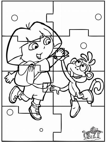 Puzzle Dibujos Rompecabezas Dora Imprimir Colorear Puzzles