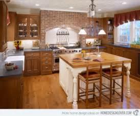 rustic kitchen backsplash ideas 15 charming brick kitchen designs decoration for house
