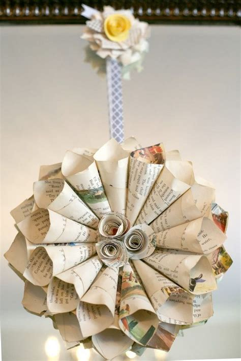 book page christmas ornaments  upcycled ideas