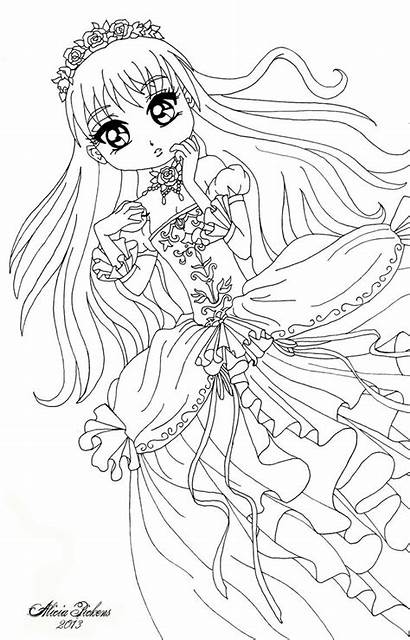 Deviantart Snow Coloring Anime Licieoic Pages Chibi