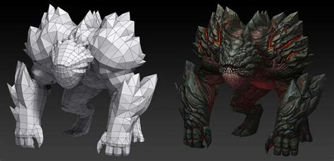 ArtStation - Stone monster, huang caokun