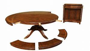 Expandable, Round, Walnut, Dining, Table