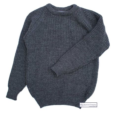 fisherman s sweater fisherman 39 s rib sweater for charcoal grey wool
