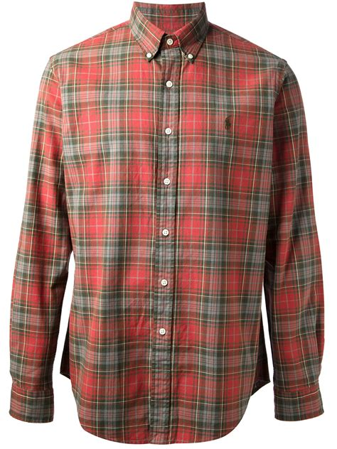 polo ralph plaid shirt in for lyst