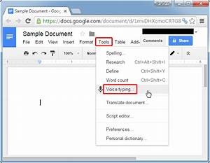 How to use voice typing in google docs using speech to for Google docs voice dictation