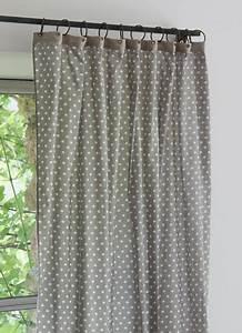 Rideau Voilage Gris : rideau gris pois ~ Preciouscoupons.com Idées de Décoration