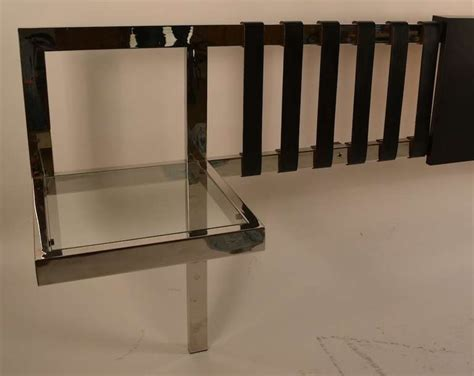 king size chrome and black leather headboard at 1stdibs