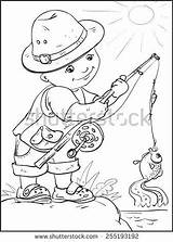 Fishing Coloring Rod Pole Printable Getcolorings Getdrawings Colorin sketch template