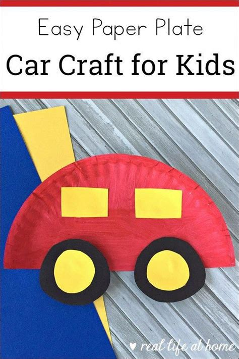 easy paper plate car craft  kids