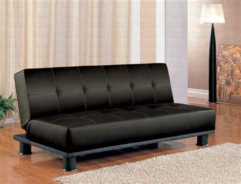 Discount Sleeper Sofa Beds by Faux Leather Modern Convertible Black Sofa Bed Marjen Of