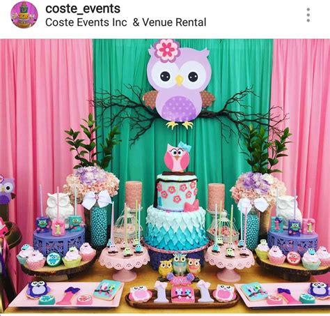 owl theme birthday party dessert table  decor