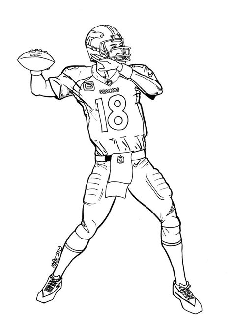 pics  football broncos coloring pages denver