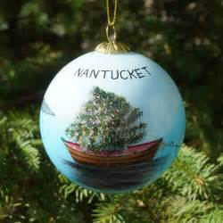 nantucket dory tree ornament the hub of nantucket