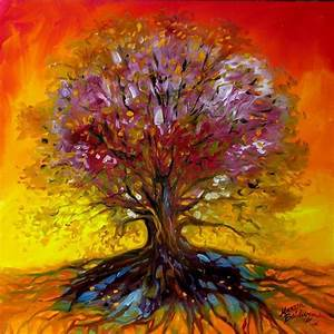 TREE of LIFE SUNSET AUTUMN - by Marcia Baldwin from Landscapes