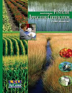 National Pesticide Applicator Certification Core Manual