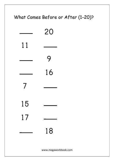 ordering numbers worksheets missing numbers what comes 394 | What Comes Before Or After 2