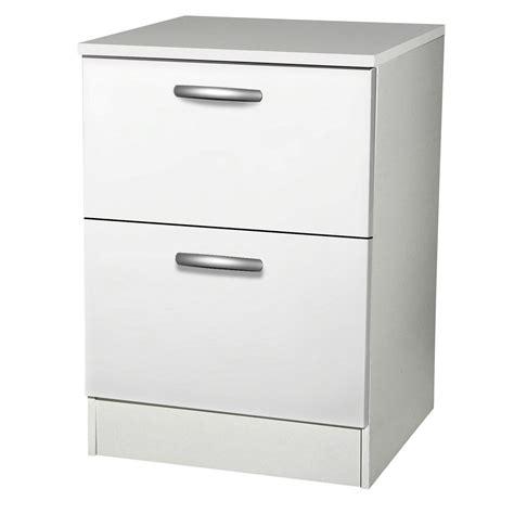 meuble cuisine avec tiroir meuble de cuisine bas 2 tiroirs casseroliers blanc h86x