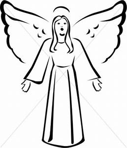 Angel Clipart Free Black And White | Clipart Panda - Free ...