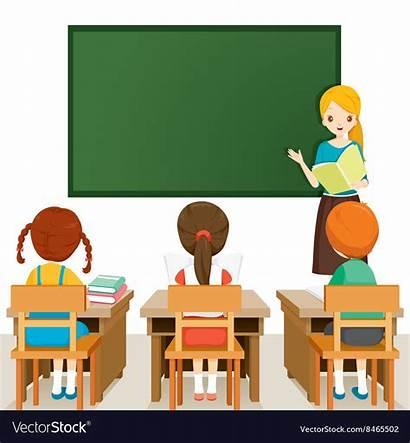 Teacher Classroom Teaching Students Cartoon Student Class