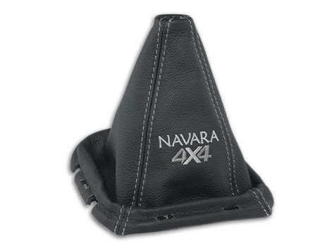 for nissan navara d40 05 09 gear boot gaiter leather embroidery gray frame 180mm ebay