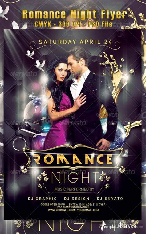 Electro Flyer Poster Template Vol 4 Torrent by Graphicriver Romance Night Flyer 187 Templates4share
