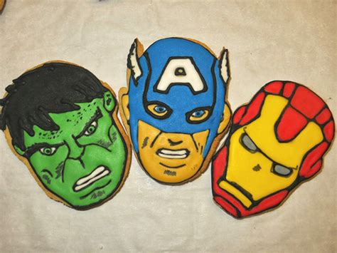 mightiest cookies  avengers gingerbread cookies
