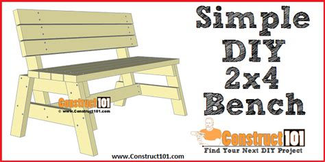 simple diy  bench  plans construct