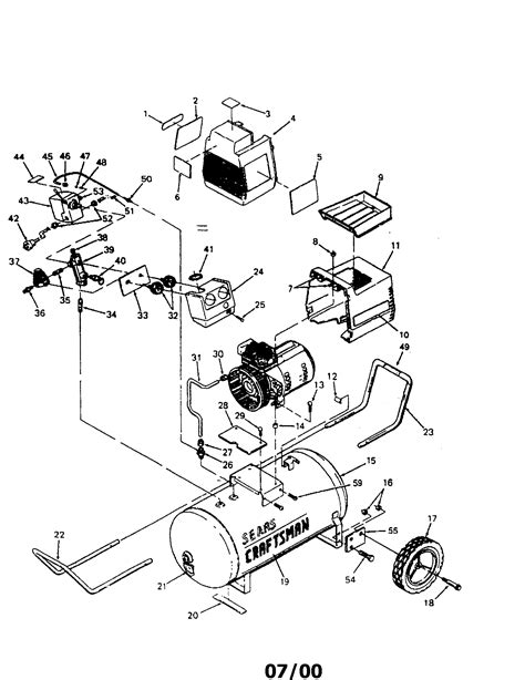 Sears Craftsman 919.153331 Air Compressor Parts