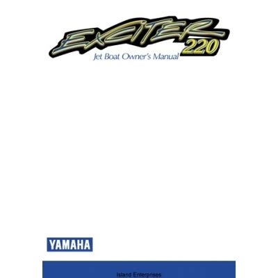 Yamaha Jet Boat Owners Manual by Yamaha Exciter 220 Jet Boat Ext1100w Lit 18626 03 18