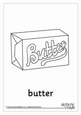 Butter Colouring Pages Pancake Activity Recipe Word Village Explore Activityvillage sketch template