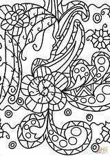 Coloring Abstract Pages Doodle Geeksvgs Printable sketch template
