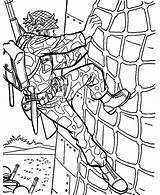 Coloring Climbing Pages Military Wall Drill Soldier Forces Special Dog Climber Working Handler Printable Template Sheets Sketch Soldiers sketch template